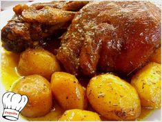 ΚΟΤΣΙ ΜΕΛΩΜΕΝΟ ΜΕ ΜΥΡΩΔΙΚΑ ΣΤΗ ΓΑΣΤΡΑ!!! - Νόστιμες συνταγές της Γωγώς! Pork Dishes, Tasty Dishes, Steak Recipes, Cooking Recipes, Cyprus Food, No Cook Appetizers, Food Processor Recipes, Food To Make, Food And Drink