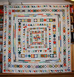 sunset sewing: 23/2014: The Kerstin Medallion quilt
