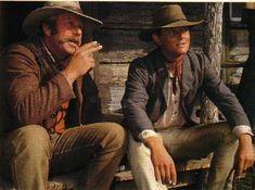 Tom and Jack Thompson, taking a break on set.
