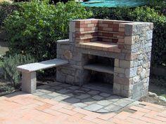 costruzione barbecue con mattoni refrattari