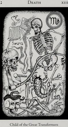 Death Tarot Card (child of the great transformers)