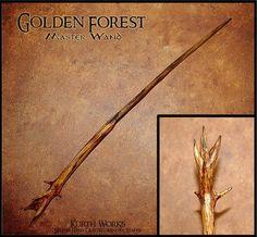 Golden Forest Wizard Magic Wand 9