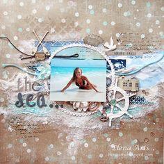 """Elena Arts: Diseñadora invitada y layout """"The sea""""."""