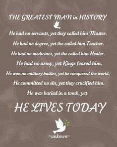 #Christ, #Jesus, #greatest man in #history, #christianity #quotes,