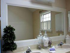 Framed Bathroom Mirrors Diy 10 diy ways to amp up builder-grade basics | mosaic tile bathrooms