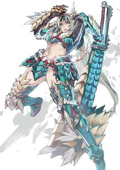 Female Zinogre Armor