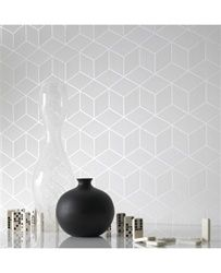 Graham & Brown offers the most striking geometric wallpaper on the market. Shop our collection of geometric wall coverings and large pattern wallpaper online. 3d Wallpaper Design, Modern Wallpaper Designs, Contemporary Wallpaper, Geometric Wallpaper, Textured Wallpaper, Designer Wallpaper, Geometric Prints, Geometric Stencil, Geometric Fabric