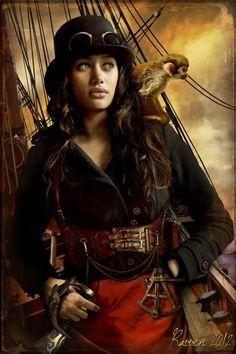 steampunk pirate lady - Google Search