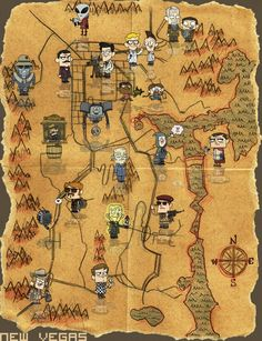 map of fallout NV