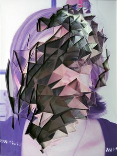 These portraits photographed and deconstructed by Lucas Simões involve ten photos that are cut and then layered between sheets of acrylic to produce this very abstract collage effect. Collages, Collage Art, Photomontage, Lucas Simoes, Art Triste, Arte Pop, All Things Purple, Grafik Design, Art Plastique