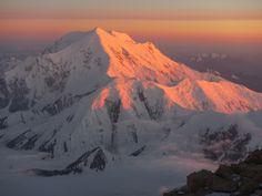 Midnight view of Mt. Foraker from high camp on Denali during Dave Hahn's 21st successful climb of America's tallest peak.