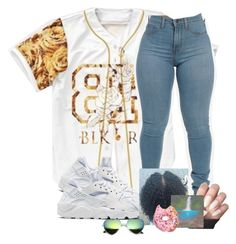 """""""."""" by shacoraduhh ❤ liked on Polyvore featuring NIKE"""