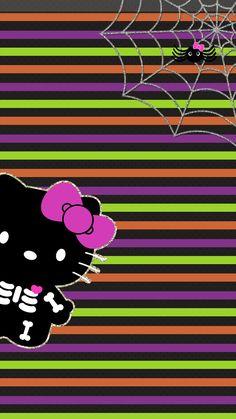 Halloween wallpaper Hello Kitty