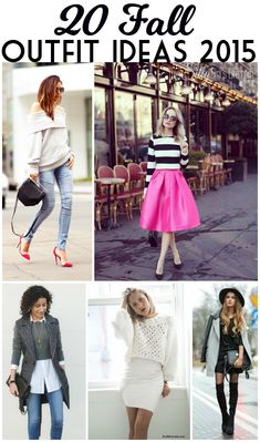 20 Fall Outfit Ideas 2015, cute fashion inspiration for fall 2015! - ThisSillyGirlsKitchen.com #falloutfitideas #fallfashion #cuteoutfitideas #falloutfits2015