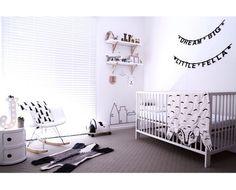 Monochrome nursery #motherandbaby #blackandwhite #interiors