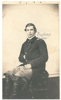 William McKinley during his Civil War service.  Yes, that is our beloved McKinley cowlick.  Strong genes!