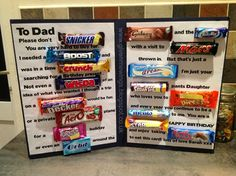 Cool chocolate birthday card idea