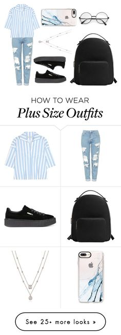 """Untitled #583"" by syshrn on Polyvore featuring Topshop, Balenciaga, Puma, MANGO and Casetify"