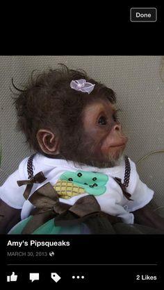 Ooak Reborn Chimp by Amy Ferreira AmysPipsqueaks.com