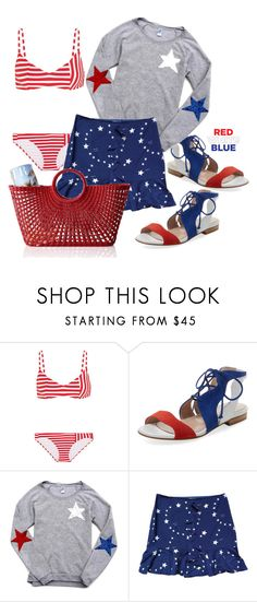 """""""Stars and Stripes"""" by interesting-times ❤ liked on Polyvore featuring Araks, Aperlaï, Claudie Pierlot, Mark & Graham and fourthofjuly"""