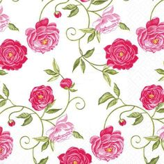 Posh Party Supplies - Peony Pink - 20 Paper Lunch Napkins, $4.98 (http://www.poshpartysupplies.com/roses-napkins/peony-pink-240-napkins/)