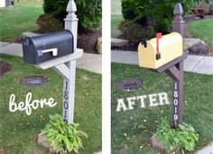 Do you have an old, boring mailbox in front of your house? Learn how to transform your blah mailbox with this easy, cheery mailbox makeover to maximize your home's curb appeal.
