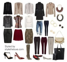 Core wardrobe, build a wardrobe, capsule outfits, winter Capsule Outfits, Capsule Wardrobe, Hourglass Figure Outfits, Hourglass Clothes, Style Work, Office Style, Hourglass Fashion, Hourglass Body, Hourglass Dress