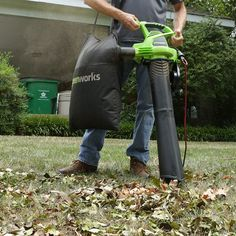 Greenworks 2 Speed 230 MPH Corded Blower/Vacuum 24022 Landscaping Tools, Garden Power Tools, Leaf Blower, Vacuums, Outdoor Gardens, Outdoor Power Equipment, Electric, Lime, Amazon