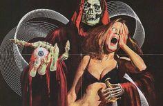 creepy or weird💀horror and sci-fi art💀black and white💀pixel art💀images are not mine, unless stated otherwise💀 Retro Horror, Vintage Horror, Arte Horror, Comic Kunst, Comic Art, Dark Beauty, Illustrations, Illustration Art, Dark Fantasy
