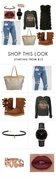 """""""everyday sweet look"""" by kaja-232 ❤ liked on Polyvore featuring Louis Vuitton, ASOS, UGG Australia, Kenzo, Carbon & Hyde, Topshop, Alison Lou and Yves Salomon"""