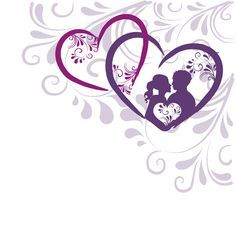 Elegant heart with floral background vector 05 free