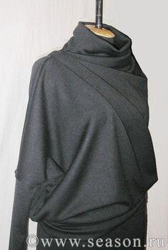 """Платье """"перекошенным кроем"""" от Natamoda. Выкройка"""