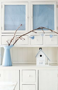 Cottage Chic, Cottage Style, Shabby Vintage, Shabby Chic, Minty House, Blue Springs, Cozy House, Sweet Home, Blue And White