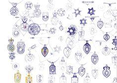 Jewelry design sketches