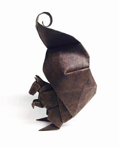 Squirrel WIP August 2016 by Beth's Origami Origami Paper Art, Useful Origami, Oragami, Arts And Crafts, Chipmunks, Squirrels, Birthdays, Crafting, 1