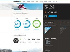 Dribbble - Mtn Report page by Rally Interactive (via Ben Cline)