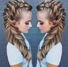 Gorgeous fishtail Mohawk braid                                                                                                                                                                                 More