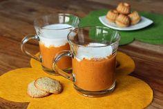 Colazione per tutti: colazione golosa con tocco esotico... frullato di albicocche con latte di cocco + biscottini di nocciole ;-) buona settimana!!!!