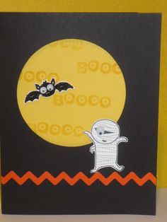 stampin up googly boogly halloween card