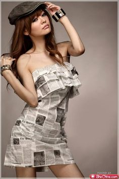 newspap dress, fashion dream, style, newspap fashion, paper fashion, newspaper dress, dresses, costum idea, doll paper