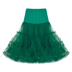 "Classic 26"" Net Mesh Tulle Pine Green Petticoat"