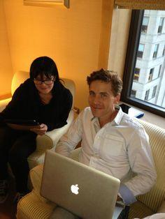 @Yves Bonis Bonis Bonis Paul Scherer Phillips @BrianDietzen live tweeting- Four Seasons NYC