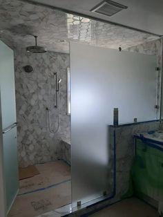Semi-Frameless Showers | Binswanger Glass Frameless Shower Enclosures, Frameless Shower Doors, Glass Shower Doors, Showers, Mirror, Home Decor, Decoration Home, Room Decor
