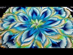 Flow Painting, Acrylic Pouring Art, Acrylic Painting Tutorials, Acrylic Art, Acrylic Flowers, Pour Painting, Painting Videos, Kids Canvas Art, Alcohol Ink Art