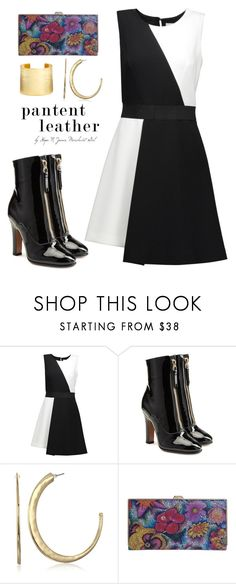 """Lady Shine: Patent Leather"" by merchantgirl ❤ liked on Polyvore featuring Milly, Valentino, Robert Lee Morris, Lodis, Karine Sultan, patentleather, hopenjones and merchantgirl"