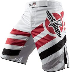 MMA Shorts - Hayabusa Elevate MMA White Fight Trunks