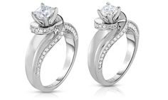 Groupon - 1.00 CTTW Certified Diamond Rings in 14K Gold by Diamond Affection…