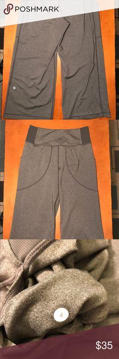 Lululemon Grey Crop Pants Grey size 4 Lululemon Workout pants lululemon athletica Pants Track Pants & Joggers