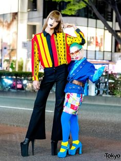 Fun Japanese friends 19-year-old Zutti and 18-year-old Sakurako... by #TokyoFashion #TokyoStyle