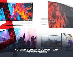 Curved Screen Mockup - After effects / Element Maxon Cinema 4d, My Face Book, After Effects, Working On Myself, Motion Graphics, New Work, Mockup, Behance, Profile